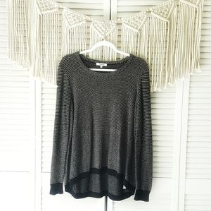 MADEWELL Black Crew Neck Knit Sweater L